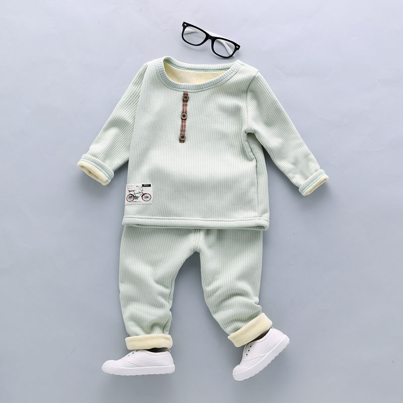 Baby Boy Clothes Set Sweater +Pants Two-pieces Suit Cotton Children Clothing Baby Girl Clothes Hoddies Costume For Kids 1-4Years 2pcs children outfit clothes kids baby girl off shoulder cotton ruffled sleeve tops striped t shirt blue denim jeans sunsuit set