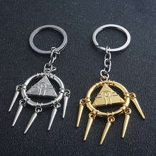 Newest Anime Yu-gi-oh! Millennium Puzzle Chain keychain pendant Keyring Golden and Bright Silver Jewelry Accessories(China)