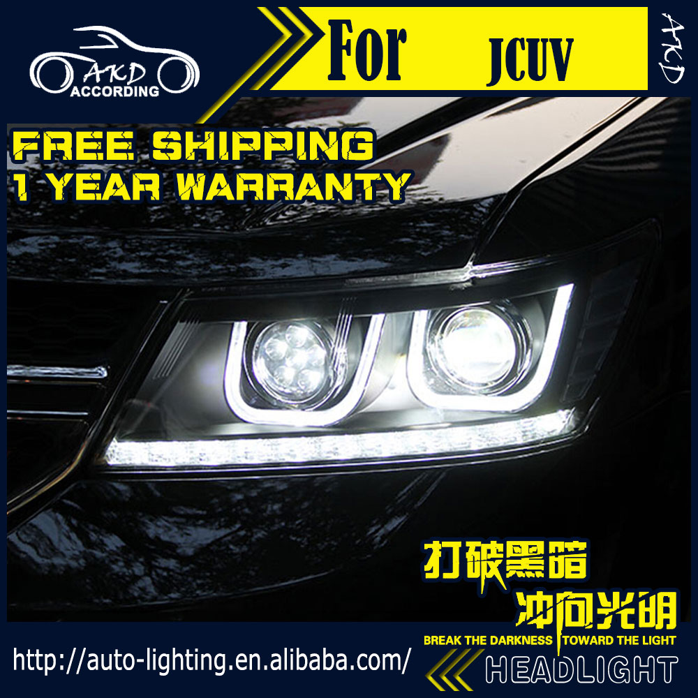 AKD Car Styling Headlight Assembly for Fiat Freemont Headlights Bi Xenon LED Headlight JCUV LED DRL HID Front Lamp Accessories-in Car Light Assembly from Automobiles & Motorcycles    2