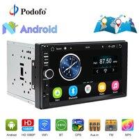 Podofo 2din Car Radio Stereo Android GPS Navigation 71024*600 Universal Car Player Wifi Bluetooth USB Radio Audio Player No DVD