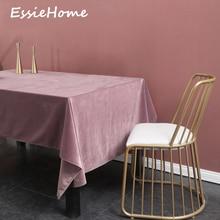 ESSIE HOME Dusty Pink Grey Single Side Matte Velvet High End Table Cloth Linen Wedding Decoration Placemat