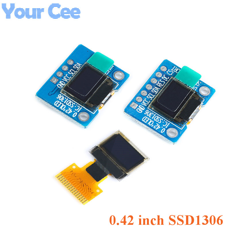 "0.42 Inch White OLED Display Screen LCD Module IIC/SPI Interface SSD1306 72*40 0.42"""