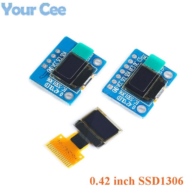 0.42 Inch White OLED Display Screen LCD Module IIC/SPI Interface SSD1306 72*40 0.42