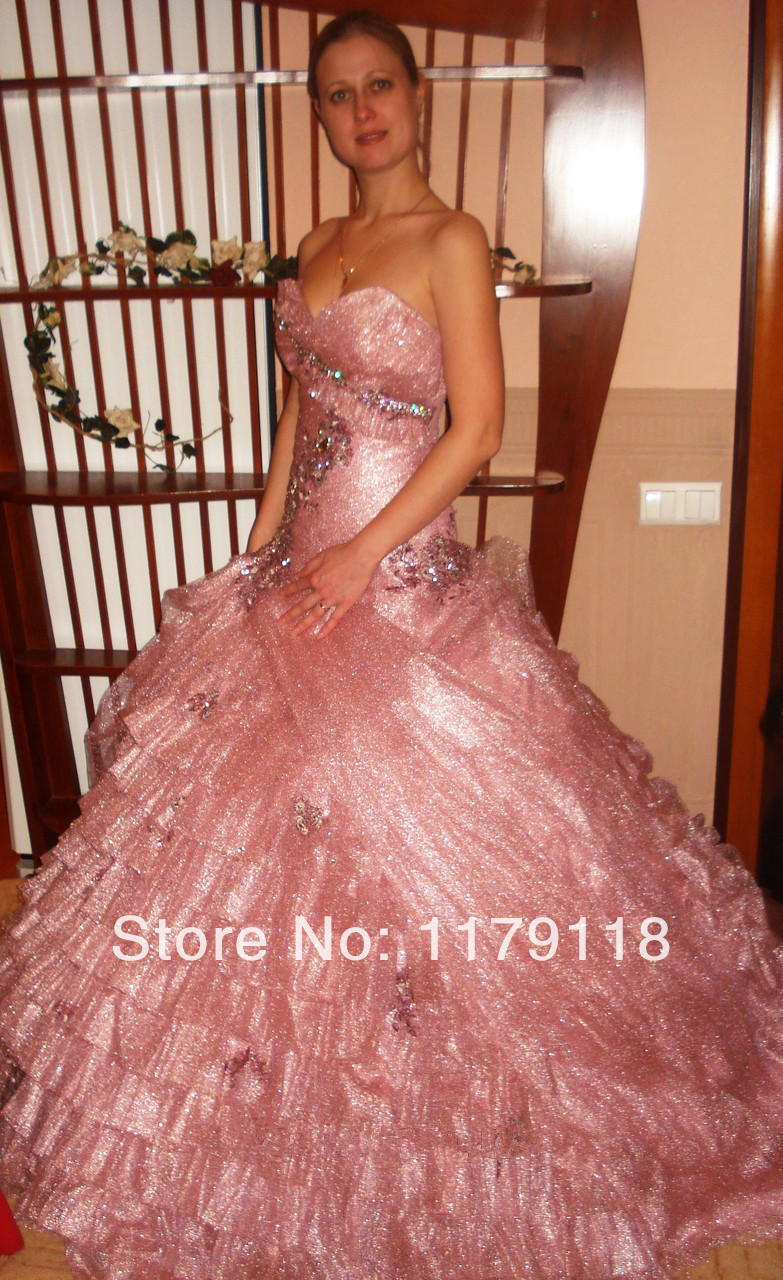 Dress code evening gown - 2017 Evening Dress Wholesale New Year Hot Sale Fashion Ball Gown Floor Length Rhinestone Organza Standard Code Prom Dresses