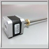 Name17 1A 12V non captive Linear 42mm Stepper Motor Screw Rod Linear Stepping Motor for 3D Printer Desktop straight screw motor