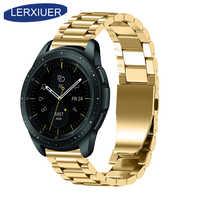 Lerxiuer ze stali nierdzewnej do samsung Galaxy zegarek 46mm zespół samsung aktywny/biegów s3 Frontier/klasyczny 22mm 20mm Wrist watchband