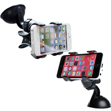 Car Phone Holder in Car Plate for Your Cell Phone GPS Stand Mobile Phones Telephone Universal Portable Mini Convenient 2 Colors