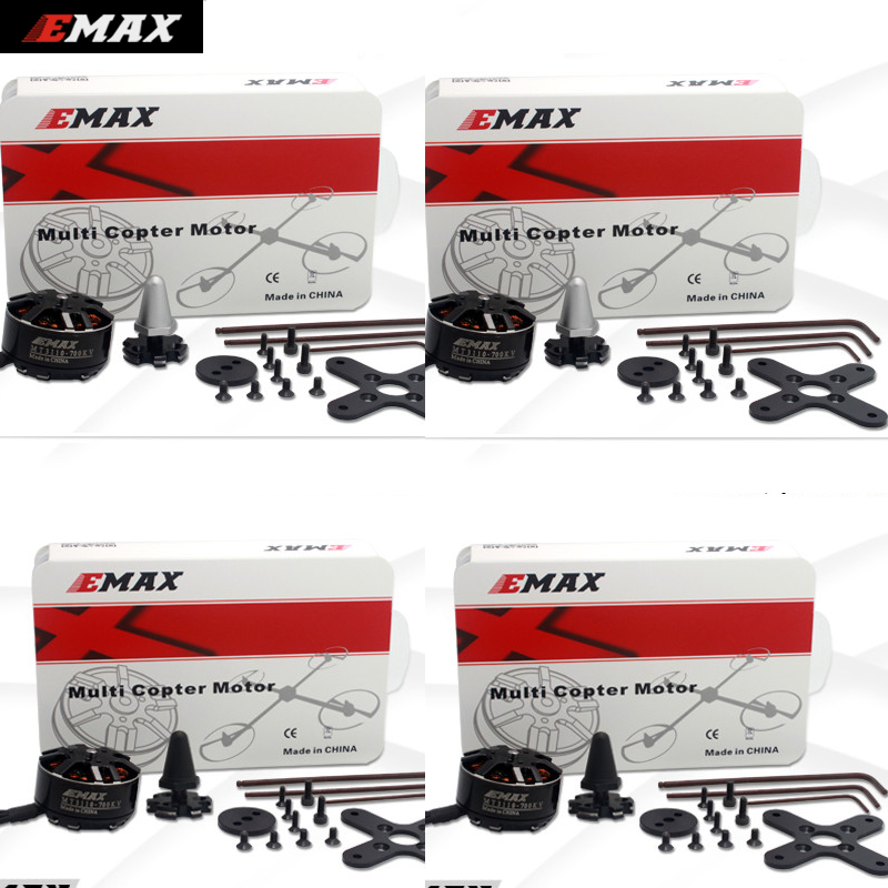 4set/lot Original EMAX Brushless Motor MT3110 700KV KV480 Plus Thread Motor CW CCW for RC FPV Multicopter Quadcopter original emax rs1104 5250kv brushless motor t2345 tri blades propellers cw ccw props for 130 rc brushless racer drone q20400
