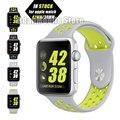 Серебро Вольт Спорт Силиконовой Лентой для Apple Watch Все Модели 42 м/38 мм Стильный Холодный Браслет Ремешок для Apple Watch группа