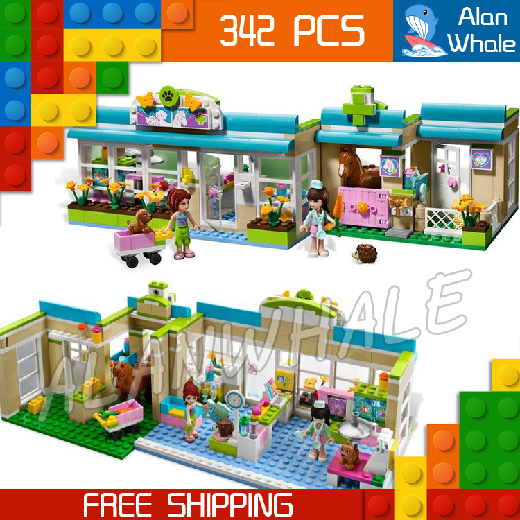342pcs new 10169 bela Girls Friends Series Heartlake Pet Hospital Mia Veterinarian Building Blocks Toys Compatible With lego new bela friends series girls princess jasmine exotic palacepanorama minifigures building blocks girl toys