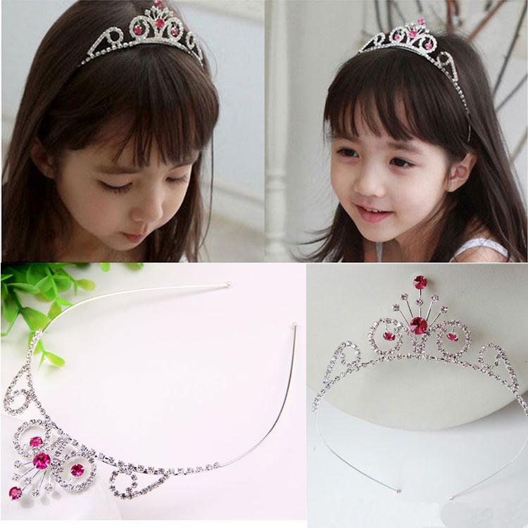 HTB1gpzAJVXXXXbUXVXXq6xXFXXXU Dazzling Rhinestone Crystal Girl Princess Headband Tiara - 15 Styles