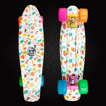 New Fish Board Mini Cruiser Peny Board Skateboards Printed Skateboard Complete Longboard Deck Skate Board Skate Wheels PD10