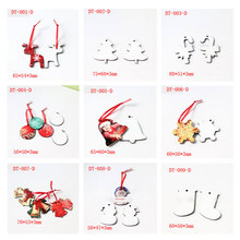 mdf blank charm for dye sublimation christmas tree santa Claus elk heat Transfer printing blank consumable DIY gift 30pcs/lot