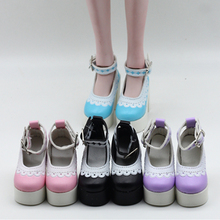 1 Pair 7.8cm High Heeled Lace Shoes For 1/3 BJD SD Doll Acce