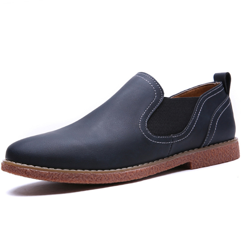 New Mens Shoes Casual Penny Designer Fashion Elastic Band Oxford Flats Suede Leather Shoes Men Fashion Business Mocassins Homme