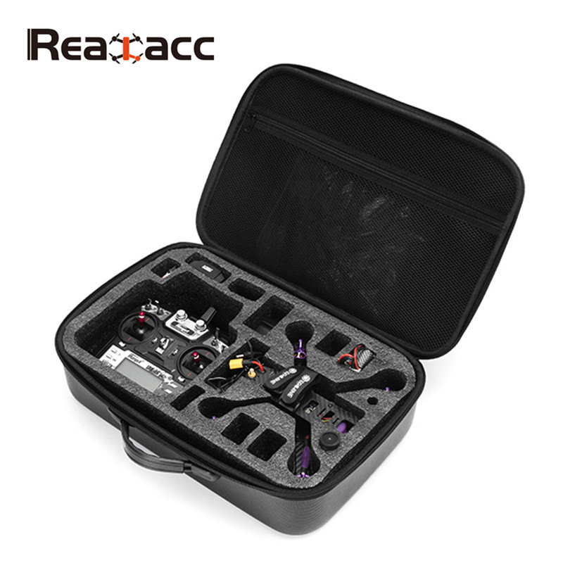 Hot New Realacc PVC Handbag Backpack Bag Case Box Case with Sponge for Eachine Wizard X220S FPV RC Racing Drone Spare Parts Accs original realacc waterproof portable storage box carrying case bag suitcase for zerotech dobby rc quadcopter black