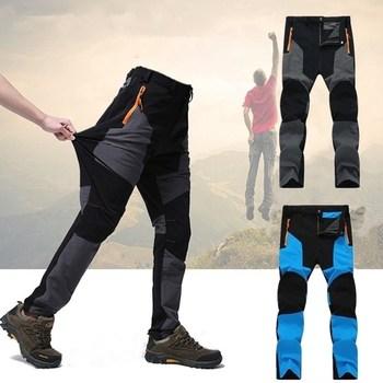 цена Outdoor Camping Hiking Pants Men Trousers Tactical Mountain Climbing Pants Softshell Trousers Waterproof Trekking Fishing Pants онлайн в 2017 году