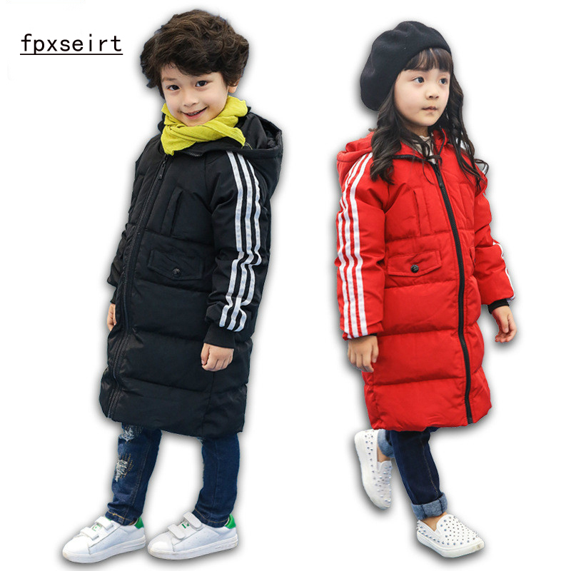 Children Down Jacket Boys Girls Long Section Thickening Winter Clothes Big Children Down Jacket Children's Clothing SY1621 2017 children winter clothes boys and girls down jacket long 90