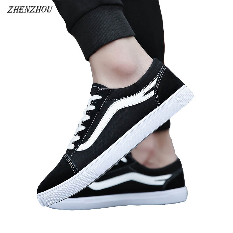 ZHENZHOU 2018 canvas shoes male Korean version of the trend of men's shoes flat casual students couple small white shoes 2015 summer shallow mouth of canvas shoes women shoes a pedal lazy shoes casual flat white shoes korean wave shoes