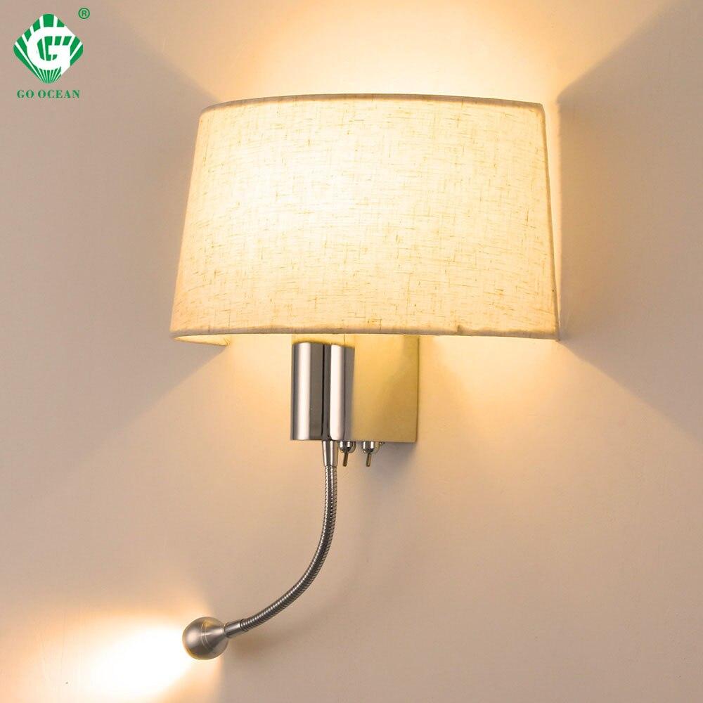 Lampe de mur LED moderne avec interrupteur E27 ampoule chambre appliques intérieur vanité salle de bain décoration industrielle maison applique murale