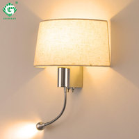 Modern LED Wall Lamp with Switch E27 Bulb Bedroom Sconces Indoor Vanity Bathroom Industrial Decoration Home Wall Mounted Light