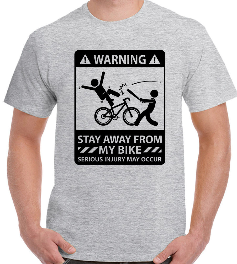 Stay auswarts von My Bike - Herren Lustige Fahrrad T-Shirt Cyclist MTB RACER BMX O-Neck  ...