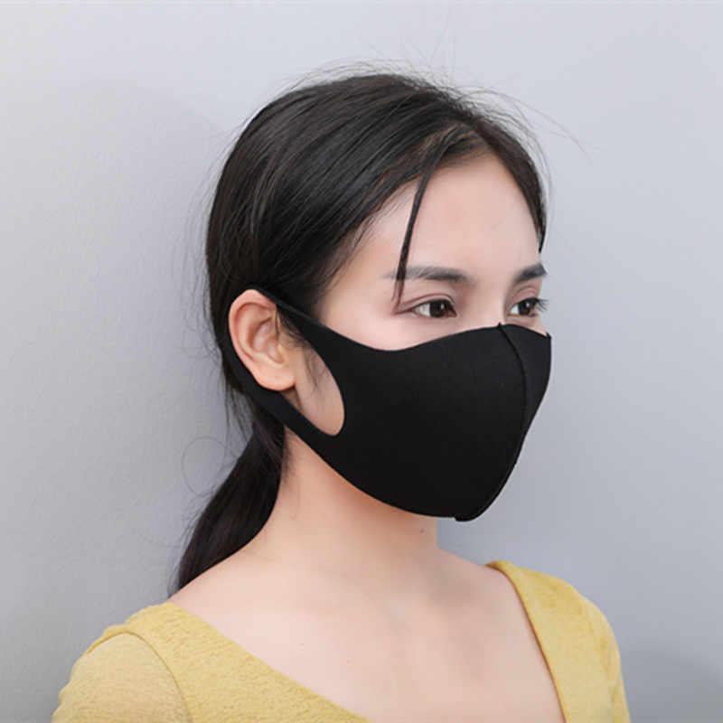 Mouth Mask Reusable Black Anti Face Sponge Breathable