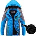 Chaquetas de invierno para Niños Niños ropa de Abrigo de Lana Cazadora Caliente Niños Hoodies Ropa de Abrigo Niñas Traje Traje Para La Nieve A Prueba de agua