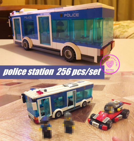 New City Police station model Building Blocks fit legoings city figures police policeman boys Toys Children gift kid set 02020 lepin new city series the new police station set children educational model building blocks bricks diy toys kid gift 60141