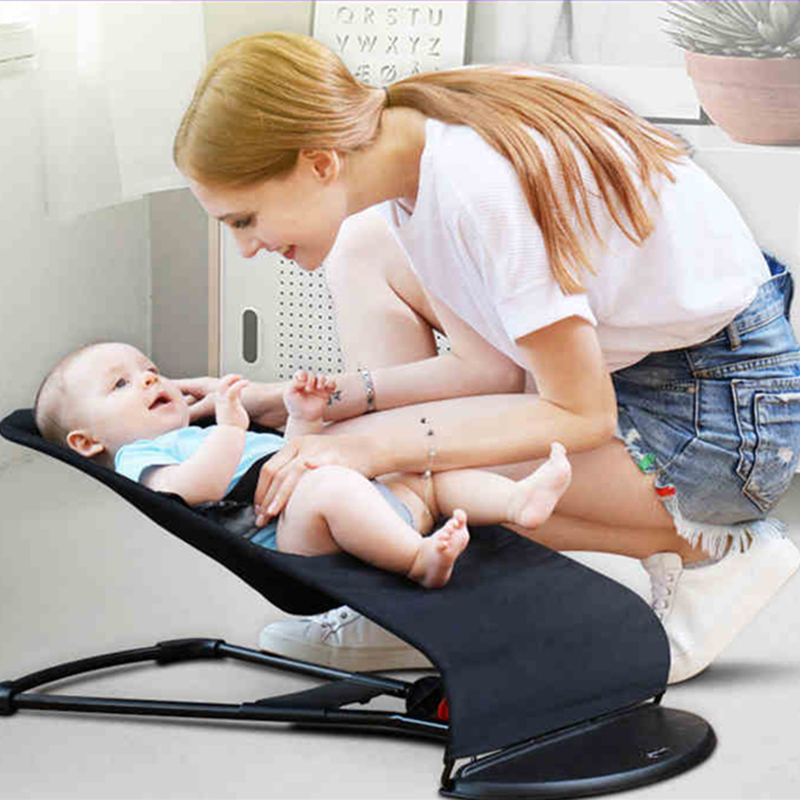 Baby Cradle Washable Cloth Cover Non-electric Newborn Cradle Natural Swing  Summer Cradle Cool