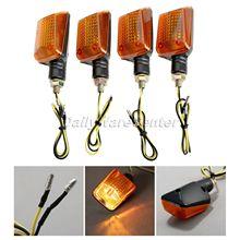 4X Universal Mototcycel 12V Turn Signal Indicator Light Bulb Amber Blinker Flash Yellow Lense ATV Bike Lamp Motor Part