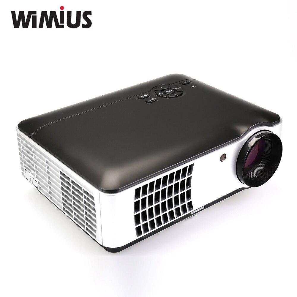 Wimius 5.8″TFT LCD RD-806A Full HD 1080P Video TV LED Projecteur ATV / DVB-T Home Proyectores HDMI/USB/VGA/AV Beamer 2800 Lumens