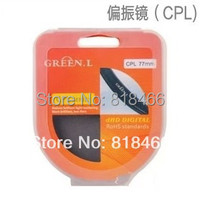 Free Shipping Track Number 86mm GREEN L CPL Circular Polarizing Lens Filter For Canon Nikon Any