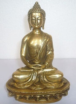 Tibetan Buddhism Bronze Shakyamuni Sakyamuni Buddha Statue metal handicraft