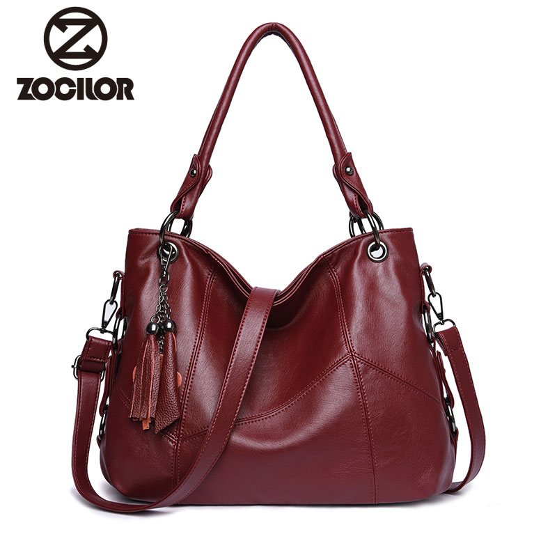 Fashion 2018 Tassel Women Handbags Designer Shoulder Bag High Quality PU Leather Bags Women Chain Ladies Hand Bag Tote Sac women vintage bucket bag ladies casual pu leather handbags tote high quality messenger bags brands designer shoulder tassel bag