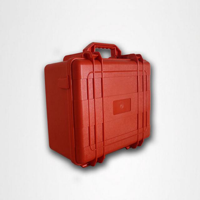 Solid Deep Orange Color Waterproof ABS Plastic Toolbox With Foam