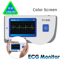 LINLIN Advanced Handheld ECG Monitor Mini Portable LCD Electrocardiogram Heart Monitor Monitoring Health Care Machine