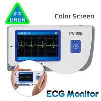 LINLIN Advanced Handheld ECG Monitor Mini Portable LCD Electrocardiogram Heart Monitor Monitoring Health Care Machine