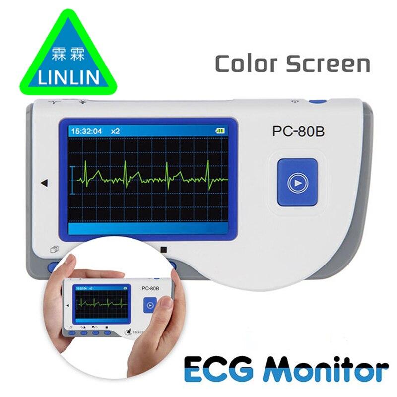 LINLIN Avanzata Handheld Monitor ECG Mini LCD Portatile Elettrocardiogramma Heart Monitor Monitoraggio Macchina di Sanità