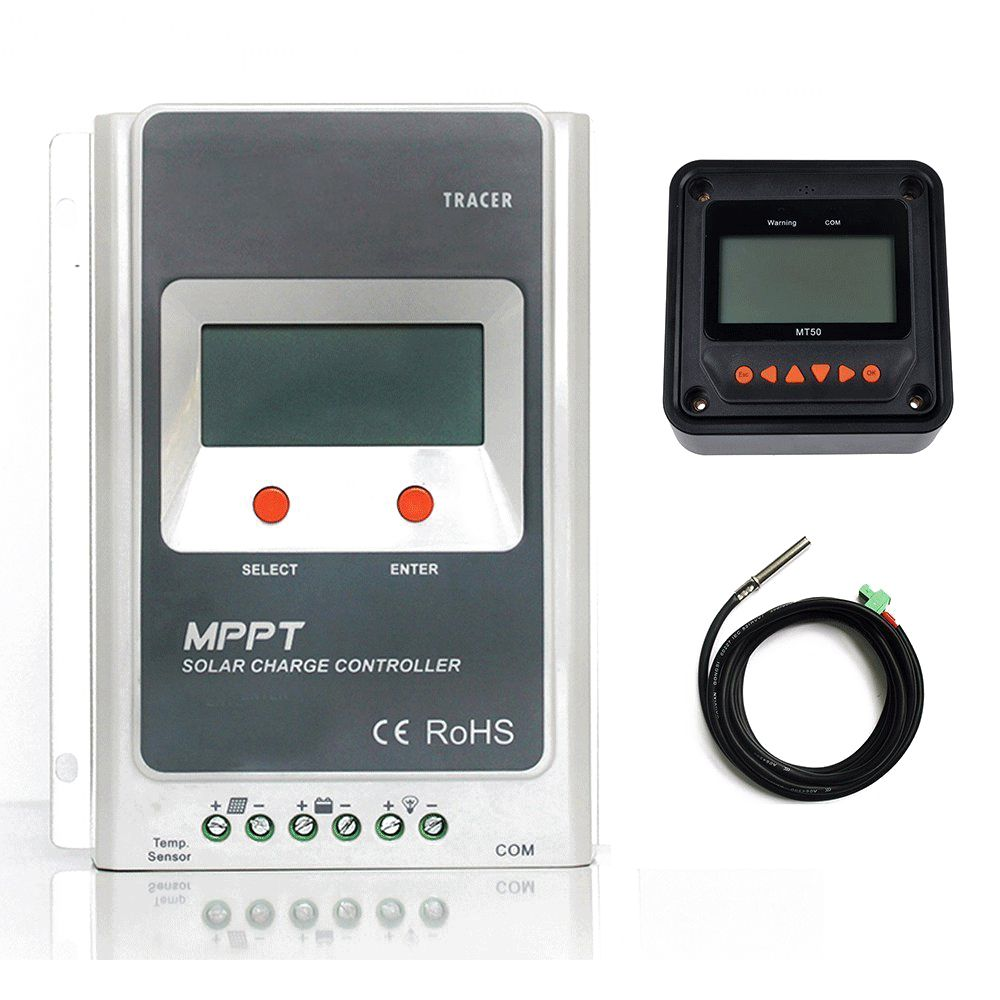 MPPT Solar Charge Controller 40A+MT50 Monitor+Temp.Sensor