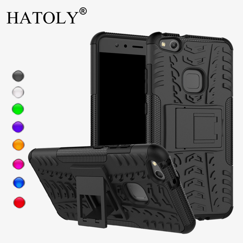 Për Cover Huawei P10 Lite Case Anti-knock Heavy Duty Armour Stand Cover Cover P10 Lite Silicone Phone Bumper Case for Huawei P10 Lite