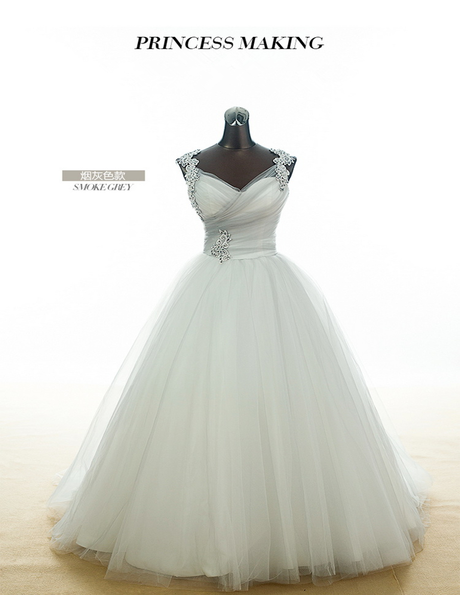 Medium Crop Of Grey Wedding Dress