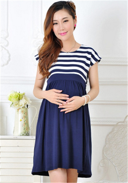 New Arrival Women Long Dresses for Pregnant Women Breastfeeding Women's Clothing Maternity Fashion Nursing Home Clothing Mother