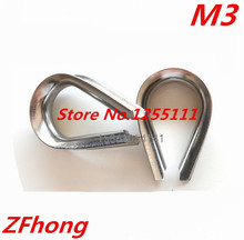 20pcs M3 Stainless Steel 3mm Wire Rope Cable Thimble Triangle Ring Capel WireRope