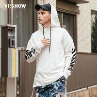 VIISHOW New White Hoodie Men Brand 2017 Autumn Men Hoodies Solid Sling Male Sweatshirt Fashion Tracksuit