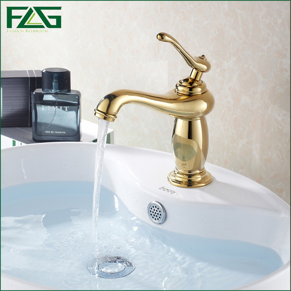 Best Prices On Bathroom Faucets - Flg best promotion bath mat golden classic bathroom faucet cold hot plumbing materials robinet lavabo basin faucet