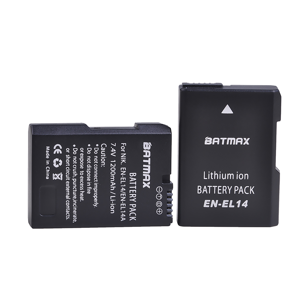 Batmax EN EL14 EN EL14A EL14 Replacement Camera Battery for Nikon D3100 D3200 D3300 D3400 D3500 D5600 D5100 D5200 P7000 P7800|Digital Batteries|   - AliExpress