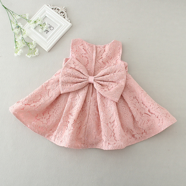 Baby Girl Dress with Bow Diamond Belt