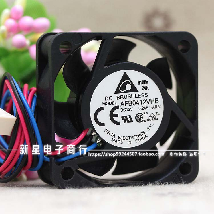 For Delta Electronics AFB0412VHB -AR50 Server Square Fan DC12V 0.24A 4-wire