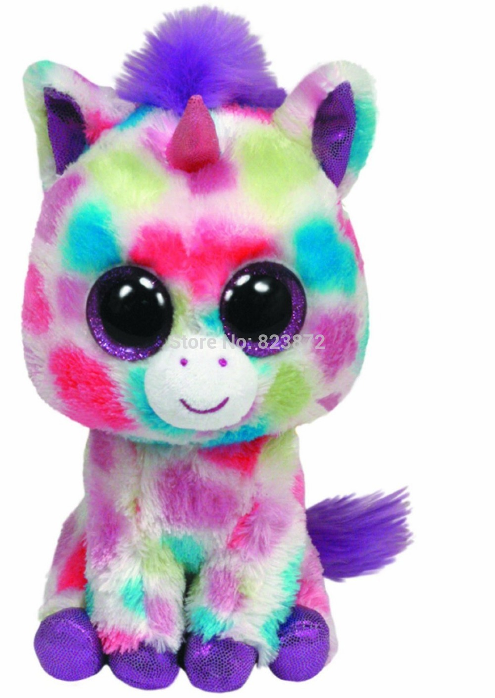 Original TY Big Eyes Beanie Boos Wishful Plush Unicorn Toys 15cm 6   Ty Big  Eyed Stuffed Animals Soft Toys for Children-in Stuffed   Plush Animals from  Toys ... 88d56f24724